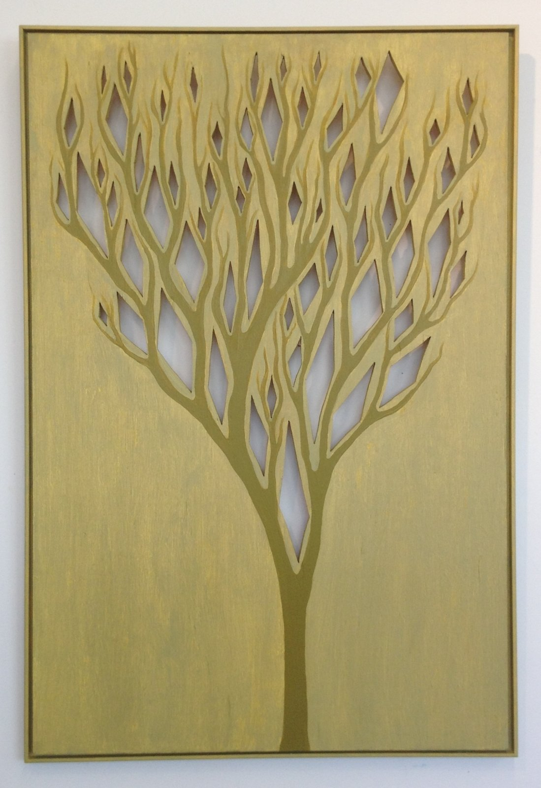 Bendheim Tree With Diamonds, 2016, 36x25 ,acrylic Wood,