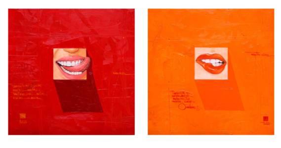 Rico & Sabroso Diptych | 60x60 cm each