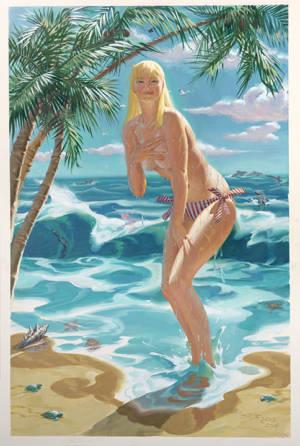Sunny At The Beach, 20X30