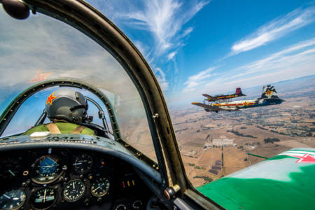 Formation flying with the Nanching CJ-6 over Sonoma County, CA