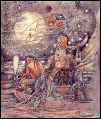 Walter Gurbo Drawing Room, Cosmic Two-headed Beard